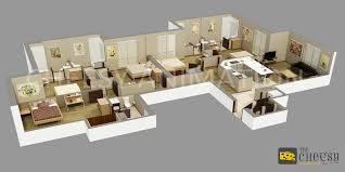 3d restaurant floor plan