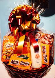 milk duds gold fish stewart s orange soda milk cinnamon rolls and so much more customize gift baskets with their favorite snacks