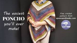 Free Crochet Poncho Patterns Magnificent The Easiest Poncho You'll Ever Make Free Crochet Pattern YouTube
