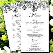 Free Invitation Design Templates Inspiration Menu Card Templates Free Sample Example Format Download Wedding Menu