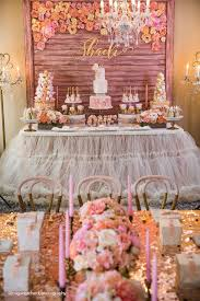 Pink Gold 1st Birthday Party 1st Birthday Girl Party Ideas 1st
