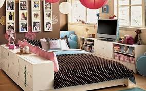 Corner Teenage Girl Interior Design Concept And Teen Bedroom Decorating  Ideas Big Bed Along With Full