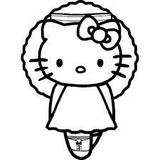 Disegno Di Hello Kitty Ballerina Da Colorare Per Bambini