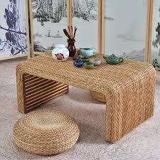 siwei tea table tea table pu leaf banana leaf hand woven tatami coffee table bay window table bay window tea table 炕 table qq table tea table original