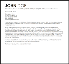 Awesome Collection Of Free Physician Cover Letter Templates About