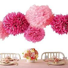 Tissue Paper Flower Decor Tissue Paper Craft Pom Poms Flowers Wedding Party Decor Tissue Paper