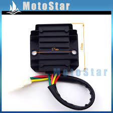 online get cheap wiring voltage regulator aliexpress com 4 wire pins male plug voltage regulator rectifier for atv quad gy6 scooter moped dirt pit