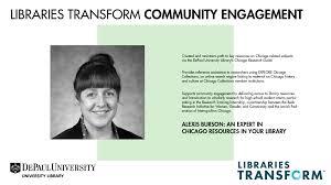 "An expert in your library: Alexis Burson"""