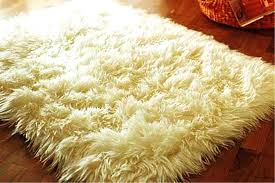 faux fur area rug contemporary