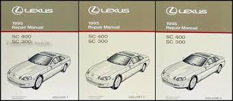 1995 lexus sc 300 400 wiring diagram manual original 1995 lexus sc 300 400 repair shop manual original 3 volume set sc300 sc400 299 00