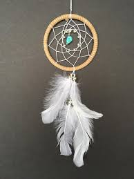 Dream Catchers For Your Car Dream Catcher for Car Mirror Brown White and Turquoise Stone 10