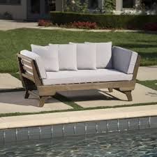 Black and white patio furniture Deck Patio Ellanti Patio Daybed With Cushions The Crafted Sparrow Patio Furniture Youll Love Wayfair