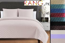 baby pink bed spread in stan
