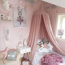 vieeoease baby bed canopy bed curtain round dome hanging mosquito net tent curtain moustiquaire zanzariera baby playing home klamboe ee 130 cat proof crib