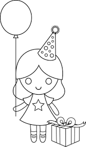 Small Picture birthday drawing for kids Birthday Girl Coloring Page Free