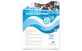 commercial cleaning flyer templates swimming pool cleaning service flyer template word publisher