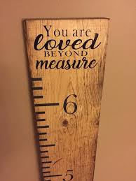 Giant Measuring Stick Growth Chart This Custom Wooden Growth Chart Ruler For Marking Your Chi