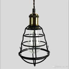vintage e27 lamp cafe loft bar pendant lights shade home decor iron cage lampshade restaurant retro industrial lighting hanging lamp ceiling lights modern