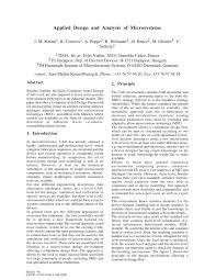 Microsystem Design Senturia Pdf Pdf Applied Design And Analysis Of Microsystems