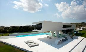 ultra modern architecture. Ground Floor Terrace Of An Impressive Ultra Modern House In Athens Architecture D