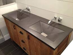 dual sink vanity. Vanity Top With Sink Charcoal Gray Bathroom Concrete Dual Sinks Within Ideas 8 48 T