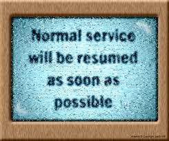 Dark Derek's Deluge: Normal Service Will Be Resumed As Soon As Possible