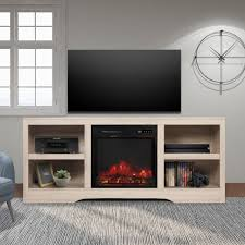 crylo tv stand with infrared fireplace