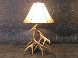horn lamp whitetail deer 3 antler table lamp deer horn light fixtures horn lamp