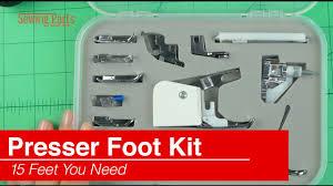 Sewing Presser Foot Kit 15 Piece Set