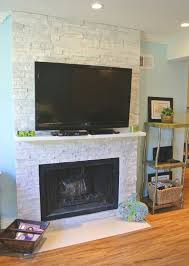 gorgeous white limestone fireplace with 47 flat screen hd tv cable bluray