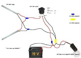 12v wiring diagram strip lights dc cable sizing chart at 12v Wiring Chart