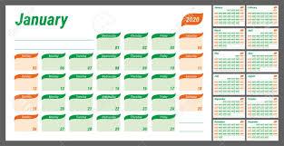 Schedule Calender 2020 Planner English Calendar Schedule Design Journal Day