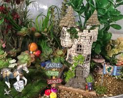 fairy garden castle. The Fairy Knight Umfray Champ\u0027s Castle-Fairy Garden, Fairy, Miniature, Dollhouse Garden Castle A