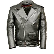 details about ms classic men s motorcycle biker jacket black genuine leather