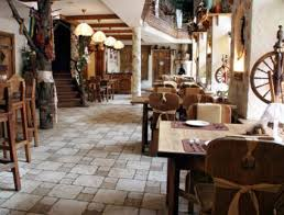 Interior of BBQ restaurant