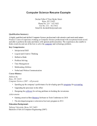 Resume Computer Science Examples