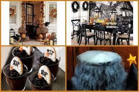 halloween indoor home decorating ideas. charming halloween decoration idea treats rip decorated chocolate pumpkin centerpieces natural garland: full indoor home decorating ideas e