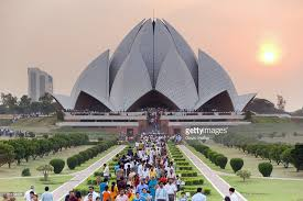 India, Delhi, Lotus Temple, Baha'i House of Worship, popularly known as Lotus  Temple