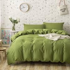 4pc 100 cotton plain solid color bedding sets army green duvet regarding incredible residence plain bedding sets king size prepare