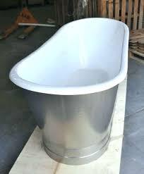 enameled steel bathtub metal bathtub cast iron double ended stainless steel slipper pedestal tub enameled steel