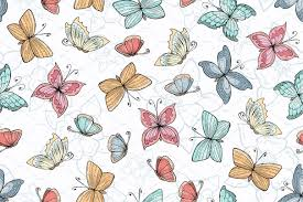 Butterfly Pattern Enchanting Pattern With Hand Drawn Butterflies Graphic Patterns Creative Market