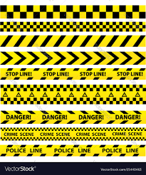 Black And Yellow Stripes Border Black And Yellow Police Stripe Border Royalty Free Vector