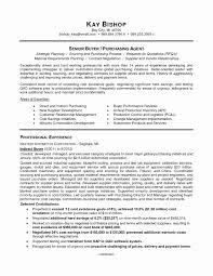 No Work Experience Resume Template Lovely Purchasing Manager Cv Word