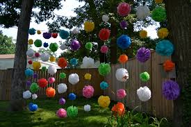 diy outdoor decorations backyard summer party decorating ideas garland decoration home design 9