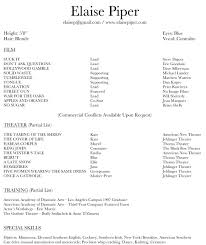 Template Theatre Resume Template Google Docs Best Of Acting Create