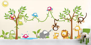 jungle wall stickers for kids rooms on baby room jungle wall art with baby wall decals 131 nursery jungle rafael martinez
