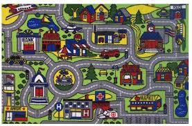 kids road map rug driving game toy area mat bedroom fun car town child toddler