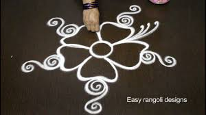 creative flower rangoli designs with out dots easy muggulu rangoli designs simple rangoli designs
