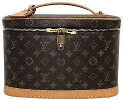 louis vuitton nice nice makeup case travel satchel in brown image 0