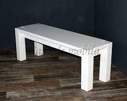 Sitzbank 140x48x43cm Kiefer Massiv Weiß Lasiert